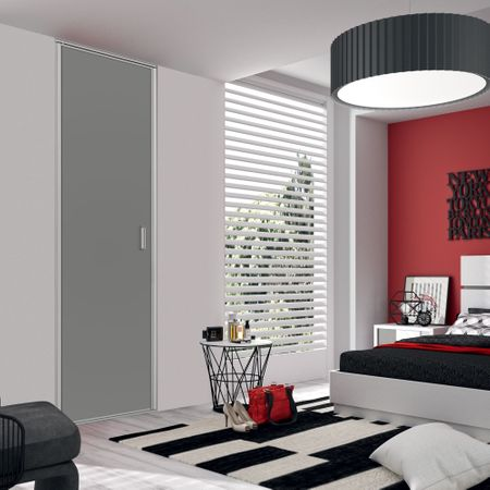fa ade de placard pliante 1 porte d cor noir intense. Black Bedroom Furniture Sets. Home Design Ideas